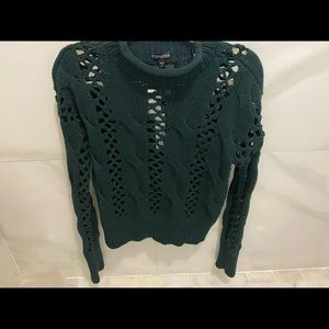 Express green knit top NWT